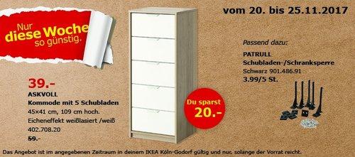 IKEA ASKVOLL Kommode - jetzt 34% billiger