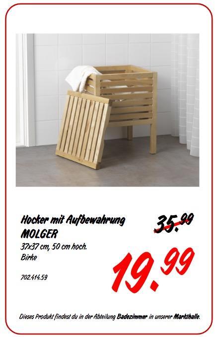 IKEA MOLGER Hocker - jetzt 44% billiger