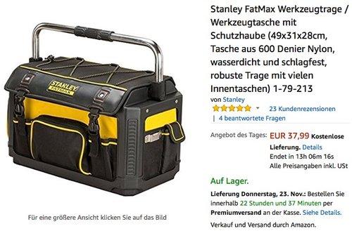Stanley FatMax Werkzeugtrage mit Schutzhaube  - jetzt 20% billiger