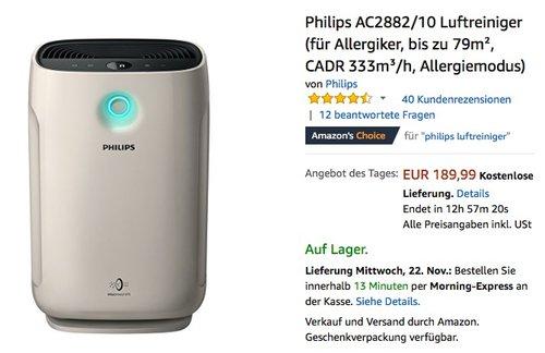 Philips AC2882/10 Luftreiniger  - jetzt 20% billiger