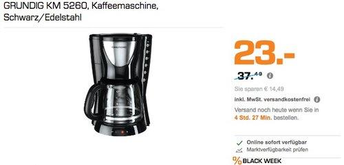 GRUNDIG KM 5260 Kaffeemaschine - jetzt 28% billiger