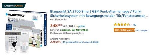 Blaupunkt SA 2700 Smart GSM Funk-Alarmanlage - jetzt 14% billiger