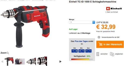Einhell TC-ID 1000 E Schlagbohrmaschine  - jetzt 26% billiger