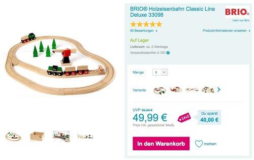 BRIO Eisenbahn Deluxe Set 33098 - jetzt 28% billiger