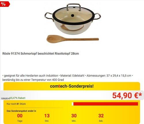 Rösle 91374 Schmortopf beschichtet Risottotopf 28cm - jetzt 31% billiger
