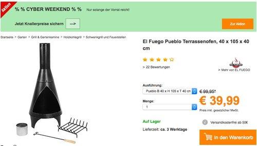 El Fuego Pueblo Terrassenofen - jetzt 18% billiger