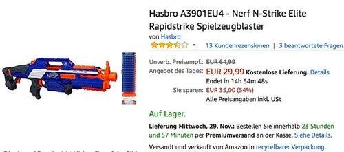 Hasbro - Nerf N-Strike Elite Rapidstrike Spielzeugblaster - jetzt 18% billiger