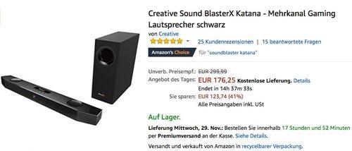 Creative Sound BlasterX Katana - Mehrkanal Gaming Lautsprecher  - jetzt 25% billiger