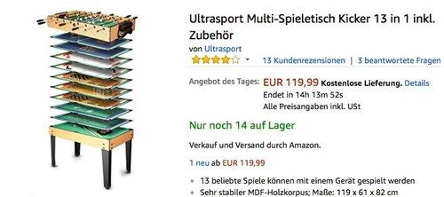 Ultrasport Multi-Spieletisch - jetzt 29% billiger