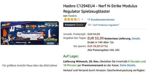 Hasbro C1294EU4 - Nerf N-Strike Modulus Regulator Spielzeugblaster - jetzt 15% billiger
