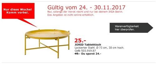 IKEA JORID Tabletttisch - jetzt 49% billiger