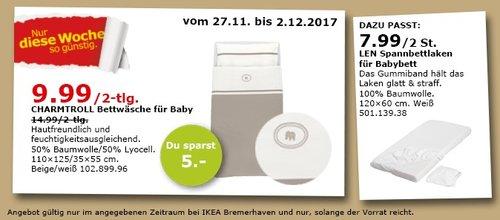 IKEA CHARMTROLL Bettwäsche für Baby - jetzt 33% billiger