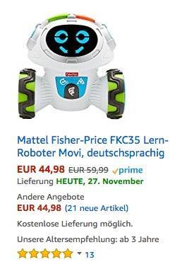 Mattel Fisher-Price Lern-Roboter Movi - jetzt 13% billiger