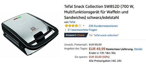 Tefal Snack Collection SW852D - jetzt 17% billiger