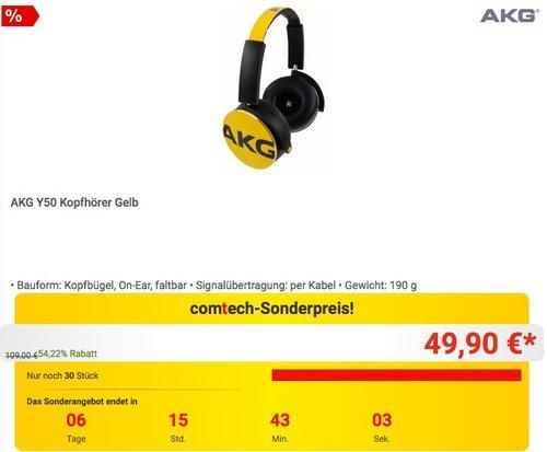 AKG Y50 Kopfhörer - jetzt 23% billiger