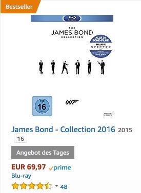 James Bond - Collection 2016 [Blu-ray] - jetzt 27% billiger