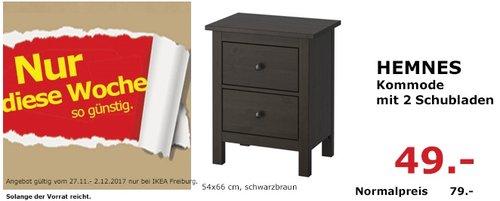 IKEA HEMNES Kommode mit 2 Schubladen - jetzt 38% billiger