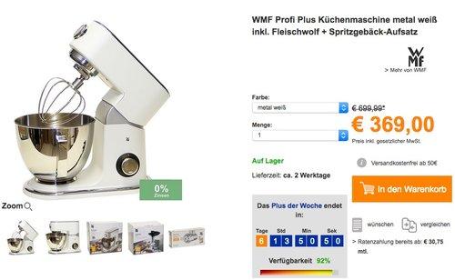 WMF Profi Plus Küchenmaschine  - jetzt 15% billiger