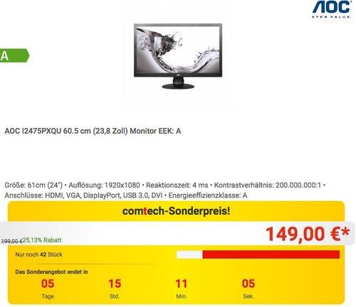 AOC I2475PXQU 60.5 cm (23,8 Zoll) Monitor - jetzt 6% billiger