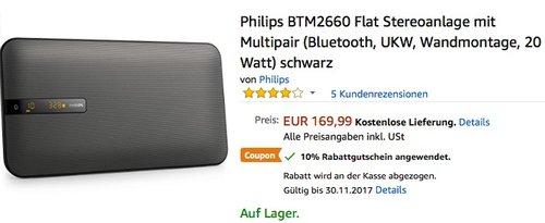 Philips BTM2660 Flat Stereoanlage - jetzt 10% billiger