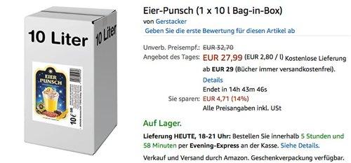 Gerstacker Eier-Punsch 10 Liter - jetzt 30% billiger