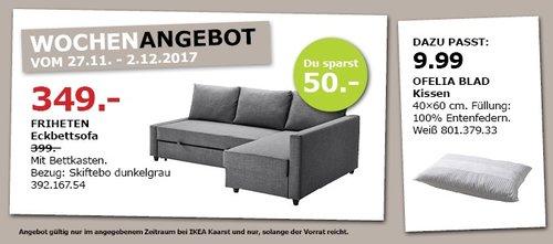 IKEA FRIHETEN Eckbettsofa - jetzt 13% billiger