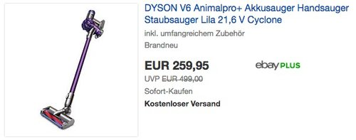 DYSON V6 Animalpro+ Akkusauger Handsauger  - jetzt 10% billiger