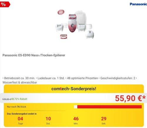 Panasonic ES-ED90 Nass-/Trocken-Epilierer - jetzt 24% billiger