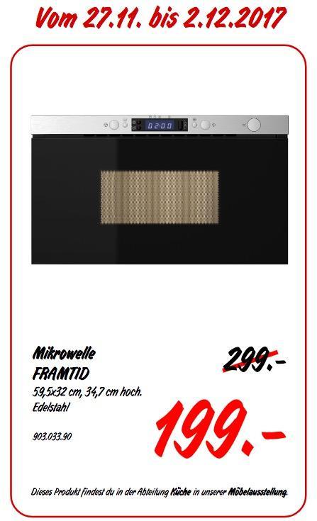 IKEA FRAMTID Mikrowelle - jetzt 33% billiger