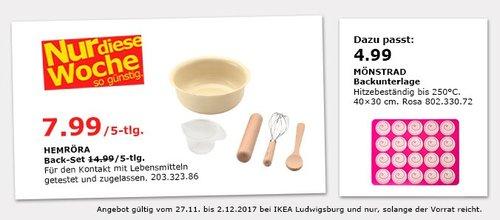 IKEA HEMRÖRA Back-Set 5 Teile - jetzt 47% billiger