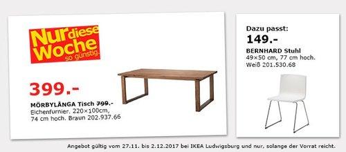 IKEA MÖRBYLANGA Tisch - jetzt 50% billiger