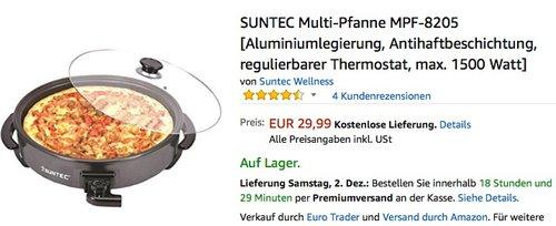 SUNTEC Multi-Pfanne MPF-8205 - jetzt 24% billiger