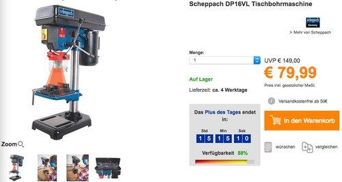 Scheppach DP16VL Tischbohrmaschine - jetzt 16% billiger