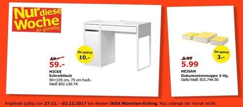 IKEA MICKE Schreibtisch - jetzt 14% billiger