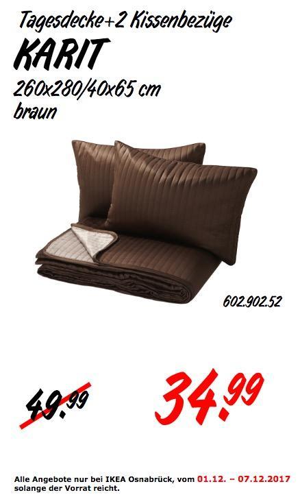 IKEA KARIT Tagesdecke +2 Kissenbezüge - jetzt 30% billiger