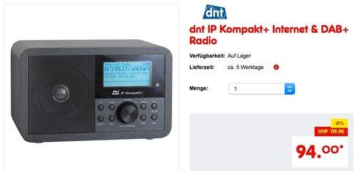 dnt IP Kompakt+ Internet & DAB+ Radio - jetzt 14% billiger