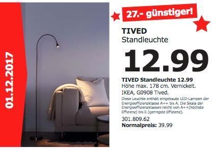 IKEA TIVED Standleuchte  - jetzt 68% billiger