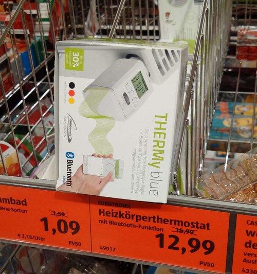 THERMyblue  Heizkörperthermostat mit Bluetooth  - jetzt 19% billiger