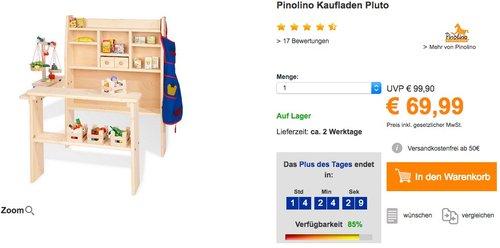 Pinolino Kaufladen Pluto - jetzt 11% billiger