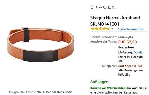 Skagen Herren-Armband - jetzt 39% billiger