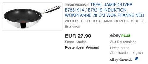 Tefal E79219 Jamie Oliver Wokpfanne, 28 cm - jetzt 7% billiger