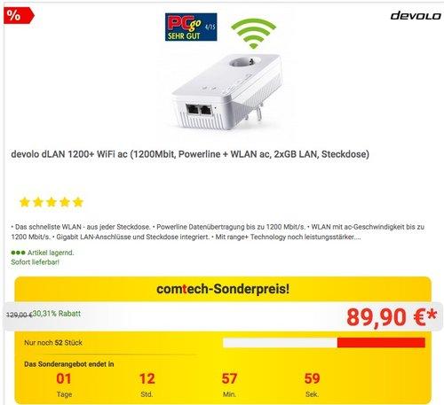 devolo dLAN 1200+ WiFi ac - jetzt 22% billiger