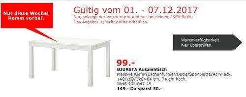 IKEA BJURSTA Ausziehtisch - jetzt 34% billiger