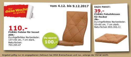 IKEA POÄNG Plotter für Sessel - jetzt 52% billiger
