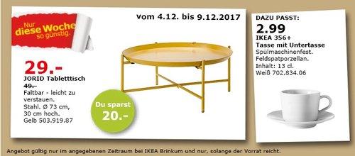 IKEA JORID Tabletttisch Gelb - jetzt 41% billiger