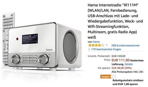 Hama Internetradio IR111M - jetzt 21% billiger