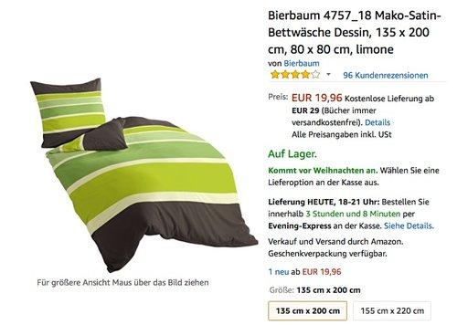 Bierbaum Mako-Satin-Bettwäsche - jetzt 50% billiger