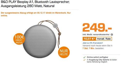 B&O PLAY Beoplay A1 Bluetooth Lautsprecher - jetzt 22% billiger