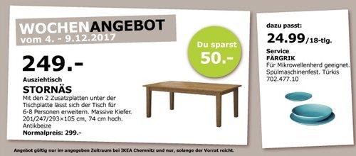 IKEA STORNÄS Ausziehtisch - jetzt 17% billiger