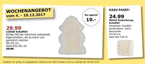 IKEA LUDDE Schaffell - jetzt 25% billiger